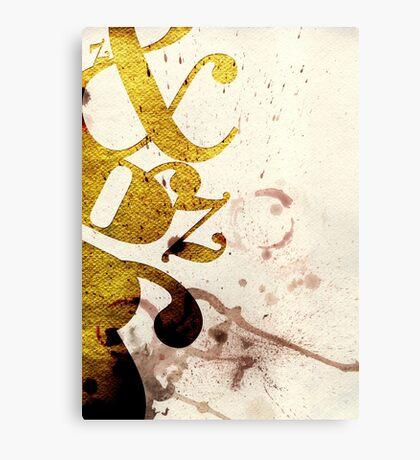 Typography Beauty Canvas Print