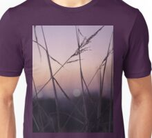 Long wild grass on summer evening purple square Hasselblad medium format film analog photograph Unisex T-Shirt