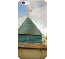 Cross and steeple on an old church iPhone Case/Skin