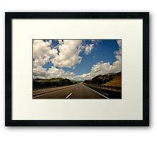 New Mexico USA Road & Sky Framed Print