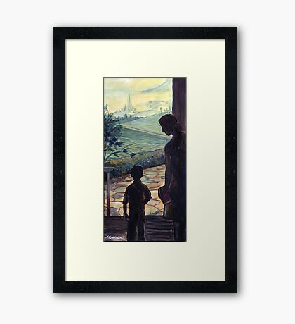 On the Threshold of Expectation Framed Print