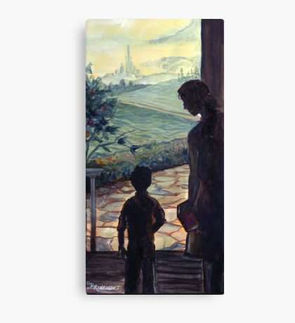 On the Threshold of Expectation Canvas Print