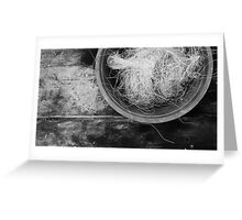 Bowl of Twine TRES Greeting Card