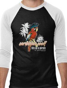 parrot pirate Men's Baseball ¾ T-Shirt