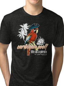 parrot pirate Tri-blend T-Shirt