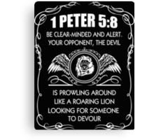 1 Peter 5:8 Canvas Print