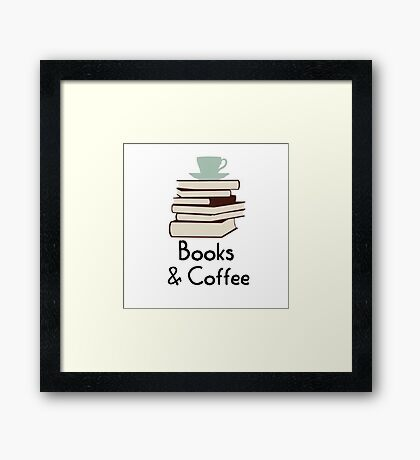 Books and coffee design Framed Print