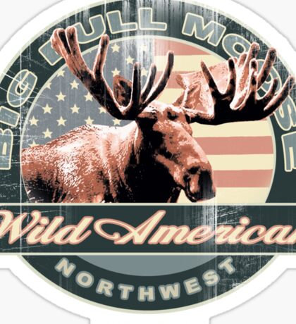 bull moose Sticker