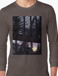 Beach house window at dawn Ibiza Spain square Hasselblad medium format film analog photographer Long Sleeve T-Shirt