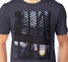 Beach house window at dawn Ibiza Spain square Hasselblad medium format film analog photographer Unisex T-Shirt