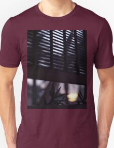 Beach house window at dawn Ibiza Spain square Hasselblad medium format film analog photographer T-Shirt