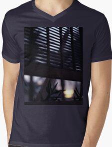 Beach house window at dawn Ibiza Spain square Hasselblad medium format film analog photographer Mens V-Neck T-Shirt