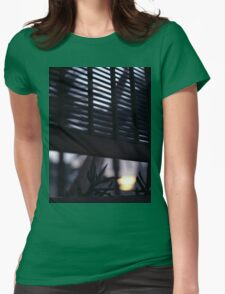Beach house window at dawn Ibiza Spain square Hasselblad medium format film analog photographer Womens Fitted T-Shirt