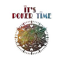 It's poker time green Photographic Print
