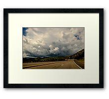New Mexico USA Storm Ahead Framed Print