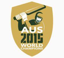 Australia Cricket 2015 World Champions Shield by patrimonio