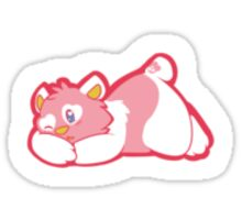 Tired and PinK Sticker