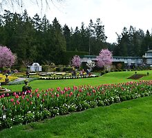 The Butchart Gardens in spring time. Italian Garden. by naturematters
