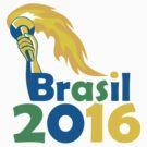 Brasil 2016 Summer Games Athlete Hand Torch by patrimonio