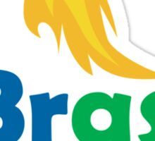 Brasil 2016 Summer Games Athlete Hand Torch Sticker