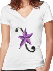 Paint Splatter - Aria Blaze Women's Fitted V-Neck T-Shirt