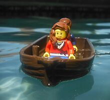 Lego Boat in the Pool by aurora-borealis