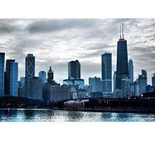 City at Twilight Photographic Print