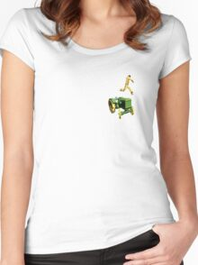 the 100 meter tractor jump Women's Fitted Scoop T-Shirt
