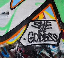 Abstract Graffiti Wall Art Photography - The Goddess by KMRyan
