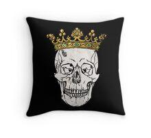 The Skull King Throw Pillow