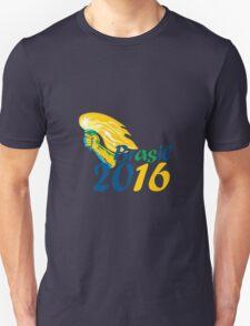 Brasil 2016 Summer Games Athlete Hand Flaming Torch T-Shirt