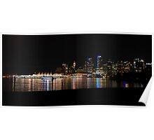 Vancouver Skyline at Night Poster