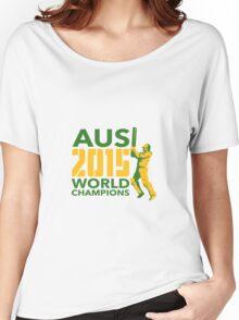 Australia AUS Cricket 2015 World Champions Women's Relaxed Fit T-Shirt