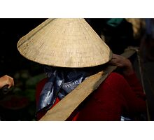Vietnam Market Lady Photographic Print