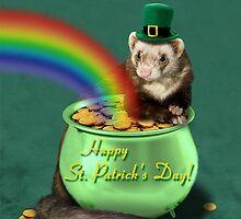 St. Patrick's Day Ferret  by jkartlife