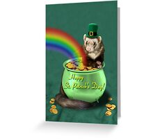 St. Patrick's Day Ferret  Greeting Card