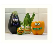 Vegan Vegetables Art Print