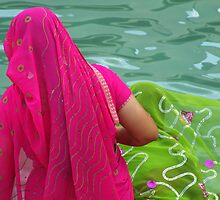 Sarees at the Water Tank by Tony Walker