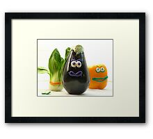 Quirky Vegetables Framed Print