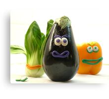 Quirky Vegetables Canvas Print