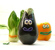 Quirky Vegetables Photographic Print