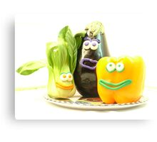 3 bright vegetables? Canvas Print