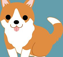 cute corgi pup by Audrey Metcalf