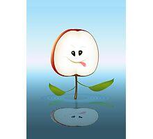 Apple Face Cartoon Photographic Print