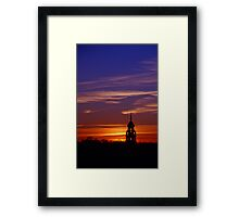 Lone Minaret of the Plaza de Espana at sunset Framed Print