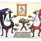 bird tea party by Soxy Fleming