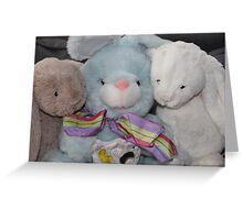 Three Easter Snuggly Bunnies Greeting Card