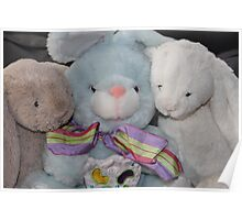 Three Easter Snuggly Bunnies Poster