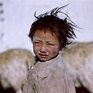 Tibetan Child by Richard Barry