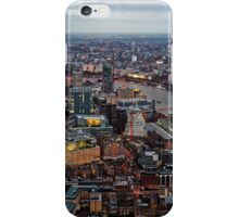 Aerial View of London at Twilight, United Kingdom iPhone Case/Skin